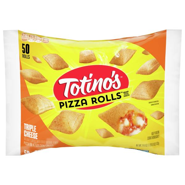 Totinos Pizza Rolls Pizza Snacks, Triple Cheese