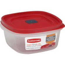 Rubbermaid Easy Find Lids Container + Lid, 5 Cups