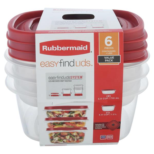 Rubbermaid Easy Find Lids Food Storage Containers, Value Pack