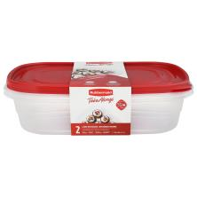 Rubbermaid Take Alongs Containers + Lids, Large Rectangles, 1 Gallon