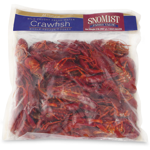Crawfish, Whole, Cooked Frozen, Wild or Farmed