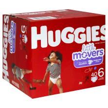 Huggies Little Movers Diapers, Disney Baby, 6 (Over 35 lb)