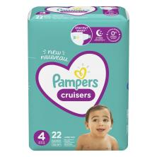 Pampers Cruisers Diapers, Size 4 (22-37 lb), Jumbo Pack