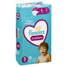 Pampers Cruisers Diapers, Size 5 (27+ lb), Jumbo Pack