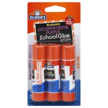Elmers School Glue Sticks, Washable, Disappearing Purple