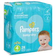 Pampers Baby Dry Diapers, Size 4 (22-37 lb), Sesame Street