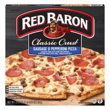 Red Baron Pizza, Classic Crust, Sausage & Pepperoni