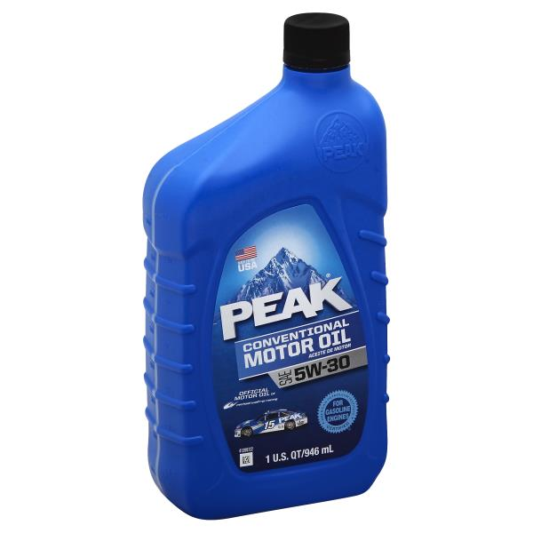 Peak Motor Oil, Conventional, SAE 5W-30