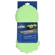 Peak Clean Sponge with Scrubber, Microfiber