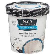 So Delicious Frozen Dessert, Non-Dairy, Coconut Milk, Vanilla Bean