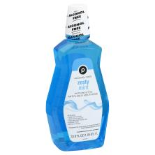 Publix Mouth Rinse, Antiseptic, Alcohol-Free, Zesty Mint