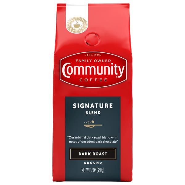 Community Coffee, Ground, Dark Roast, Signature Blend