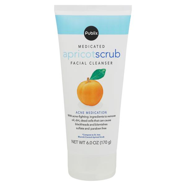 Publix Facial Cleanser, Medicated, Apricot Scrub