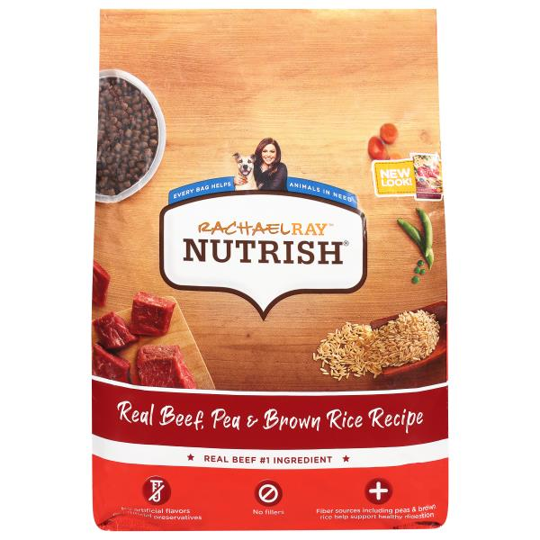Rachael Ray Nutrish Food for Dogs, Super Premium, Real Beef & Brown Rice Recipe