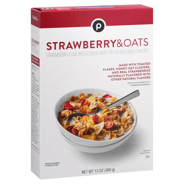 Publix Cereal, Strawberry & Oats