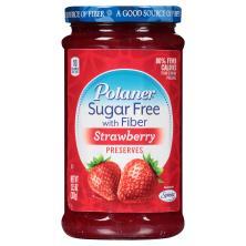 Polaner Preserves, Sugar Free, with Fiber, Strawberry