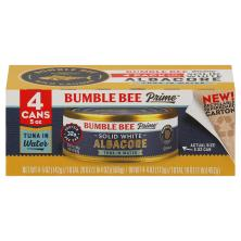Bumble Bee Prime Fillet Tuna, Gourmet, Solid White Albacore, in Water