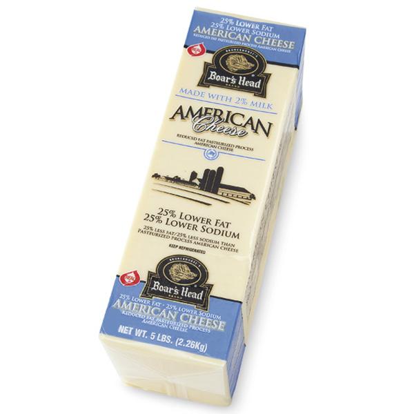 Boar's Head American Cheese, White, 33% Lower Fat/36% Lower Sodium