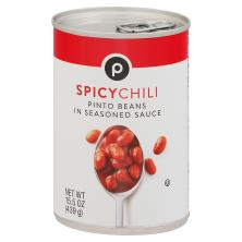 Publix Pinto Beans, Spicy Chili
