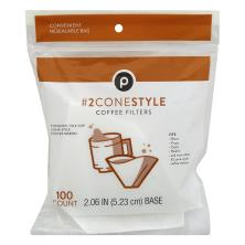 Publix Coffee Filters, No. 2 Cone-Style