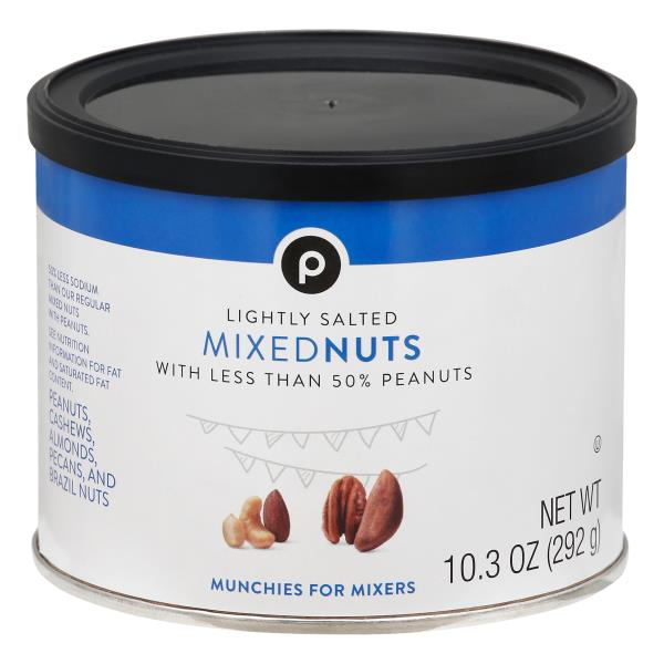 Publix Mixed Nuts, Lightly Salted, with Less Than 50