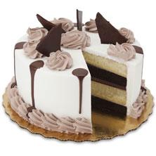 Ebony & Ivory Cake