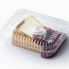 Monster Cheesecake Slice with Cherry