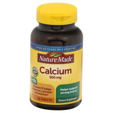 Nature Made Calcium, 500 mg, Tablets