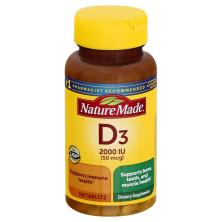 Nature Made Vitamin D3, 2000 IU, Tablets