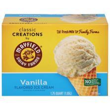 Mayfield Ice Cream, Classic, Vanilla