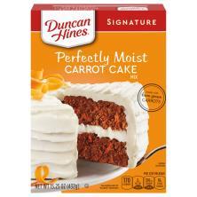 Duncan Hines Decadent Cake Mix Classic Carrot