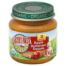 Earths Best Organic Apple Butternut Squash, 2 (6 Months+)