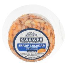 Kaukauna Cheese, Spreadable, Sharp Cheddar, with Almonds