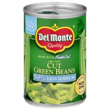 Del Monte Fresh Cut Green Beans, Cut, Blue Lake, 50% Less Sodium