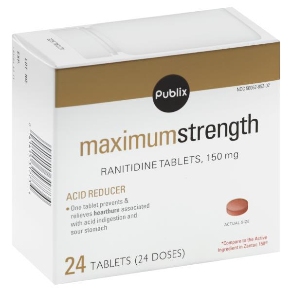 Publix Ranitidine, Maximum Strength, 150 mg, Tablets