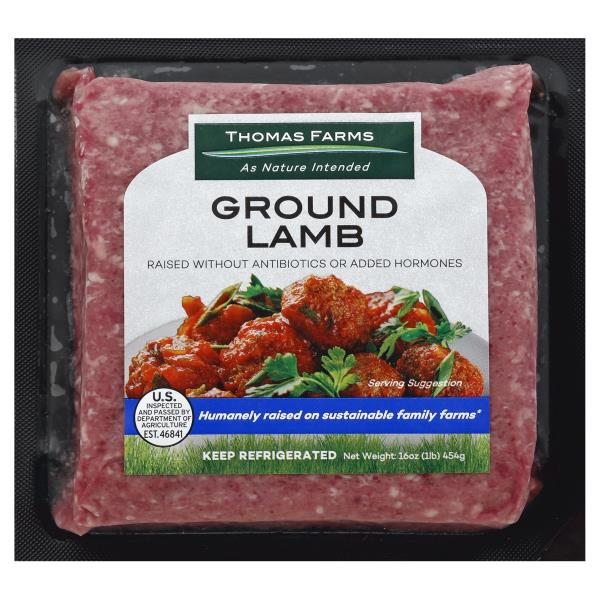 Thomas Farms Lamb, Ground, Grass Fed