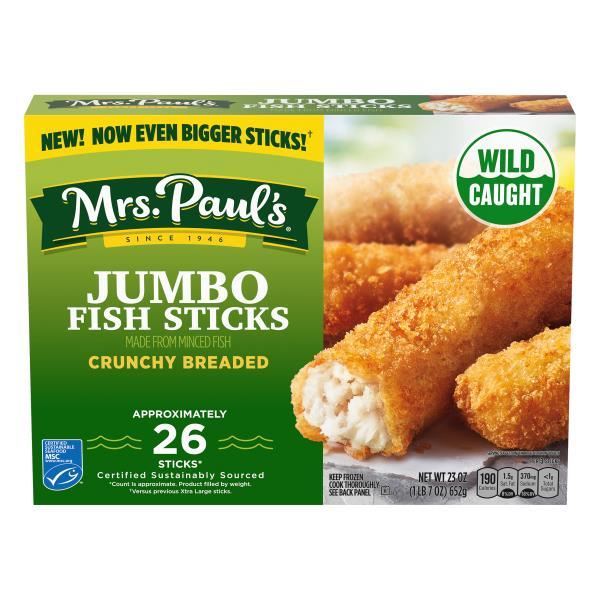 Mrs Pauls Fish Sticks, Crunchy, Xtra Large