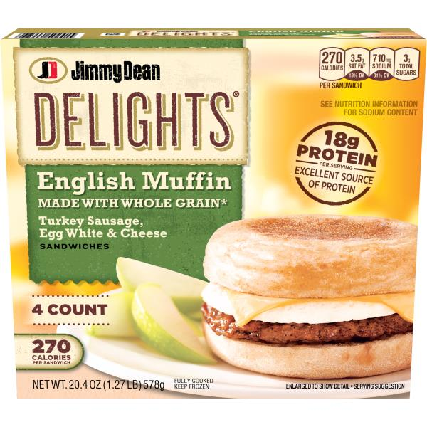 Jimmy Dean Delights English Muffin Sandwiches Turkey Sausage Egg