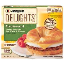 Jimmy Dean Delights Sandwiches, Turkey Sausage, Egg White & Cheese Croissant