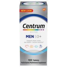Centrum Silver Multivitamin/Multimineral Supplement, Men 50+, Tablets