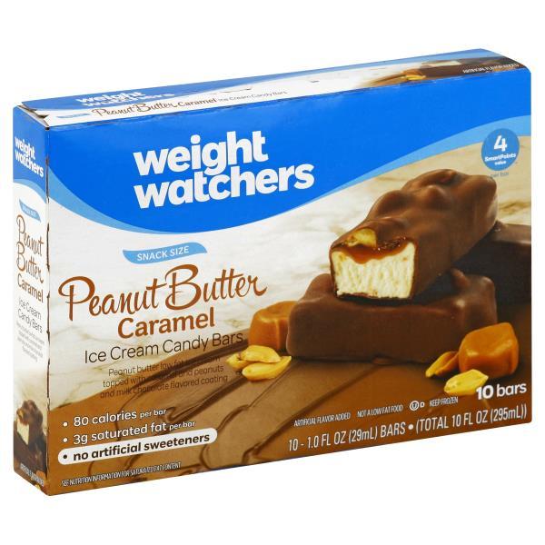 Weight Watchers Ice Cream Candy Bars Peanut Butter Caramel Snack