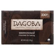 Dagoba Chocolate, Organic, Unsweetened, 100% Cacao