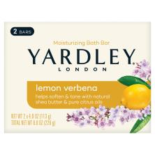 Yardley Bath Bar, Naturally Moisturizing, Lemon Verbena