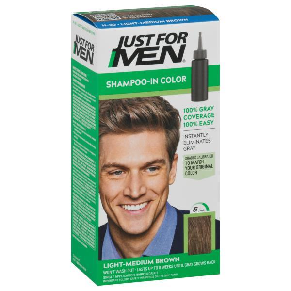 Just For Men Haircolor, Original Formula, Light-Medium Brown H-30 ...