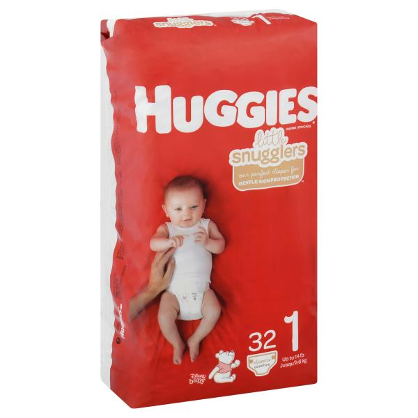 Huggies Little Snugglers Diapers, Size 1 (Up to 14 lb), Disney Baby