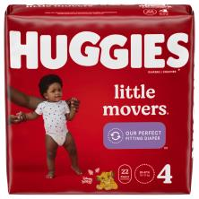 Huggies Little Movers Diapers, Size 4 (22-37 lb), Disney Baby
