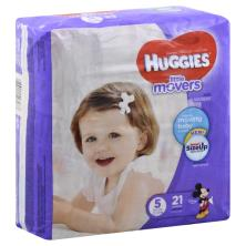 Huggies Little Movers Diapers, Size 5 (Over 27 lb), Disney Baby