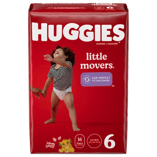 Huggies Little Movers Diapers, Size 6 (Over 35 lb), Disney Baby