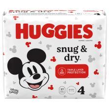 Huggies Snug & Dry Diapers, Size 4 (23-37 lb), Disney Baby