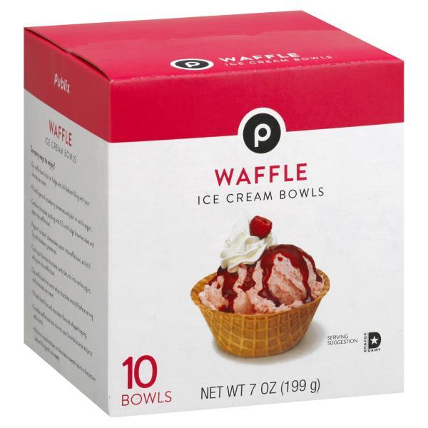 Publix Ice Cream Bowls, Waffle : Publix com